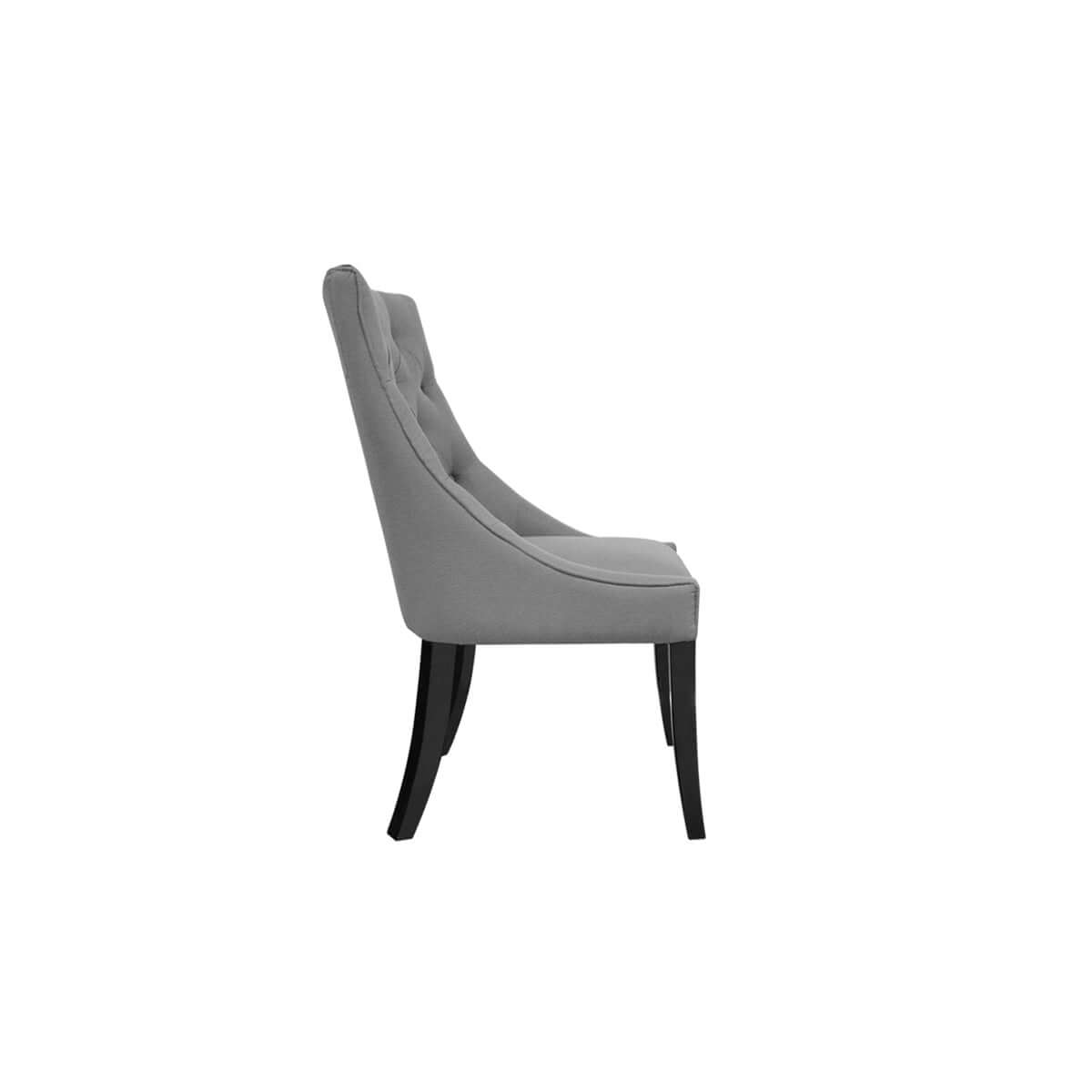 tufted dining chair made in jakarta - side view