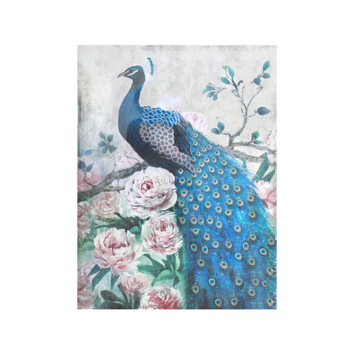 Serenity Rose Peacock Wall Art