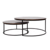 simple and chic silhouete round coffee table