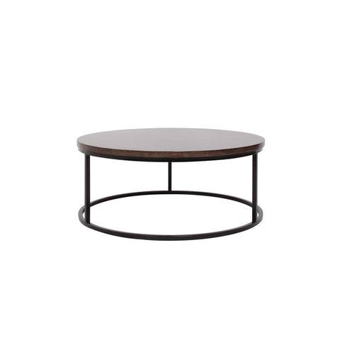 slim and chic silhouete round coffee table