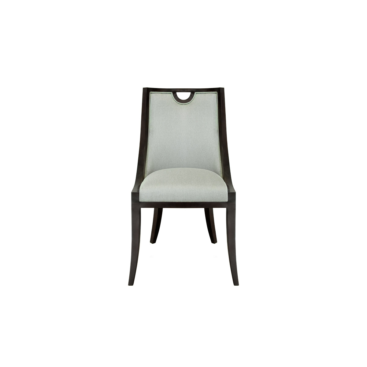 dining chair with wooden trim, indonesian furniture