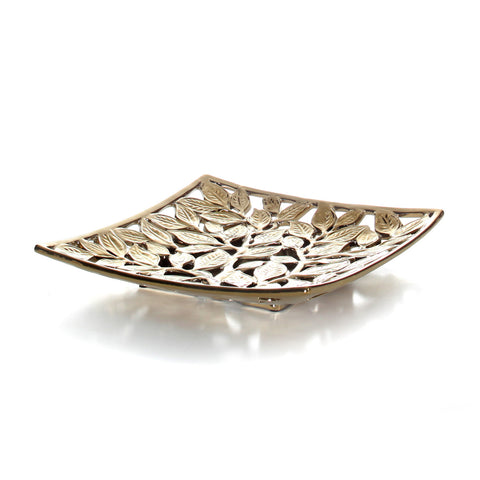Tropical Leaf Square Plate