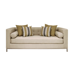 metal leg tufted 3 seat sofa dekoruma furniture jakarta