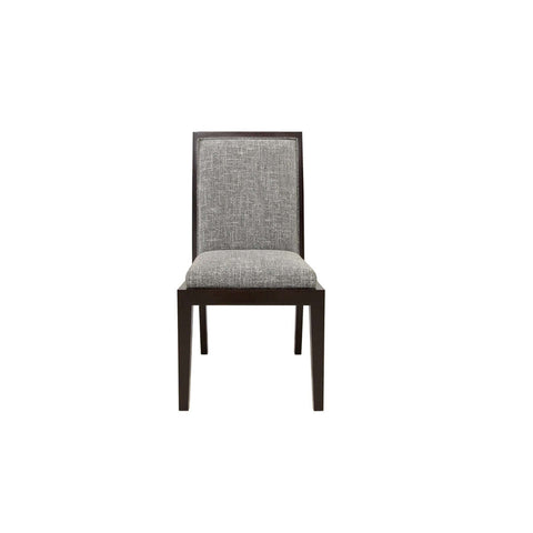 indonesian furniture - wooden trim dining chair with straight features