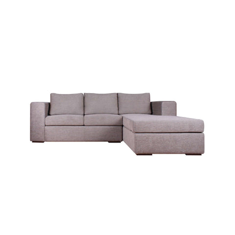 2 seat L shape fabric sofa