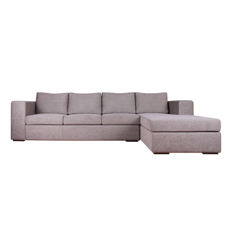 3 seat L shape modular fabric sofa