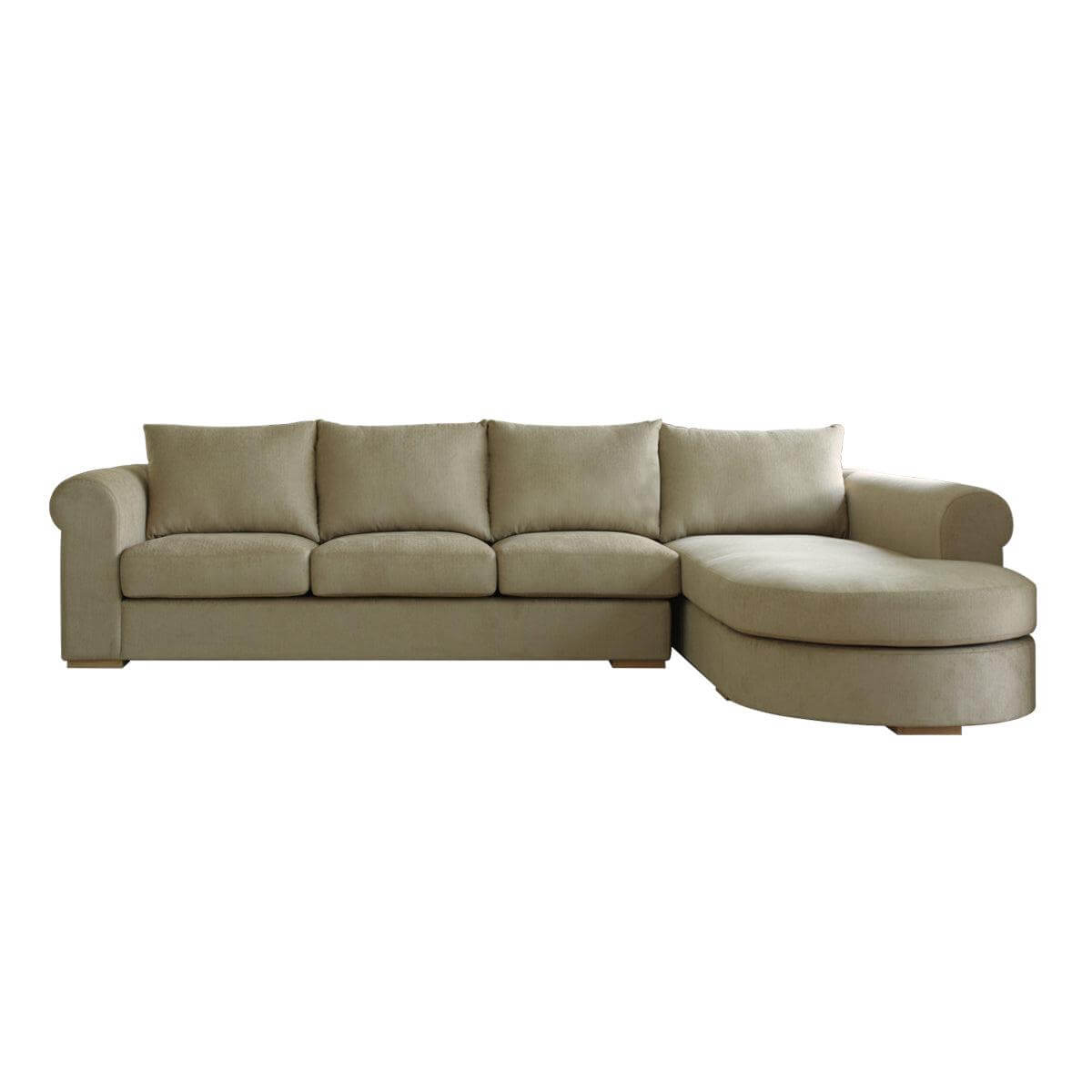 Tuscany L-shape three seat Sofa - classic look paired with modern