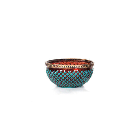 Agra Bowl Candle Holder Small - Tosca - Vinoti Living