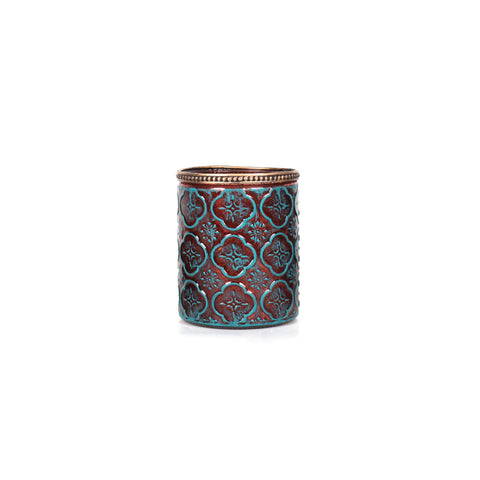 Agra Cylindrical Flower Candle Holder Tall - Tosca - Vinoti Living