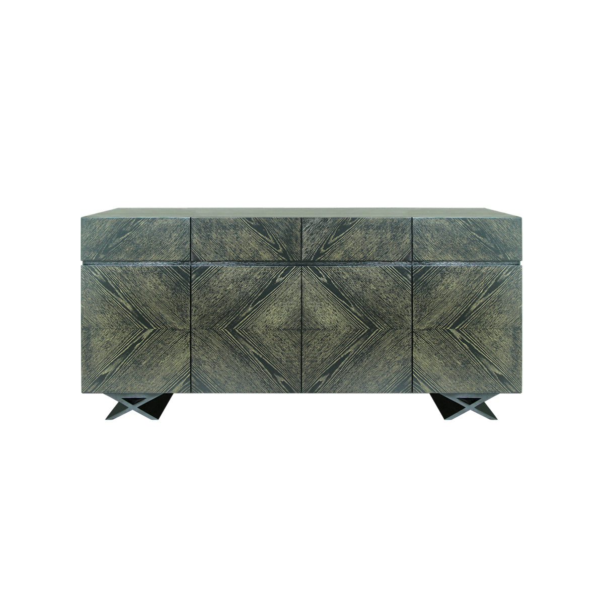 indonesian furniture online -Vesper sideboard with x shaped legs