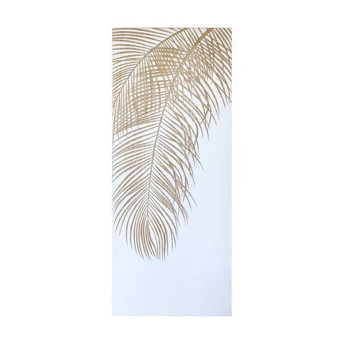 artwork and wall art - hiasan dinding - Single Palm White / Natural - vinoti living furniture and decor di indonesia