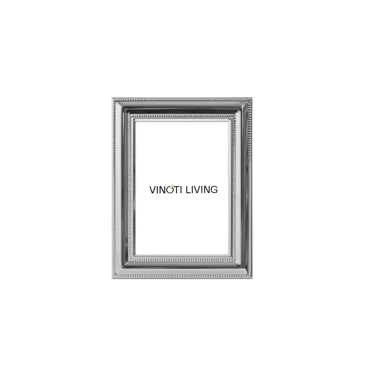 Costa Dot Lines Photo Frame - Silver - Vinoti Living