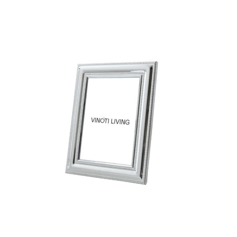 Costa Dot Lines Photo Frame - Silver