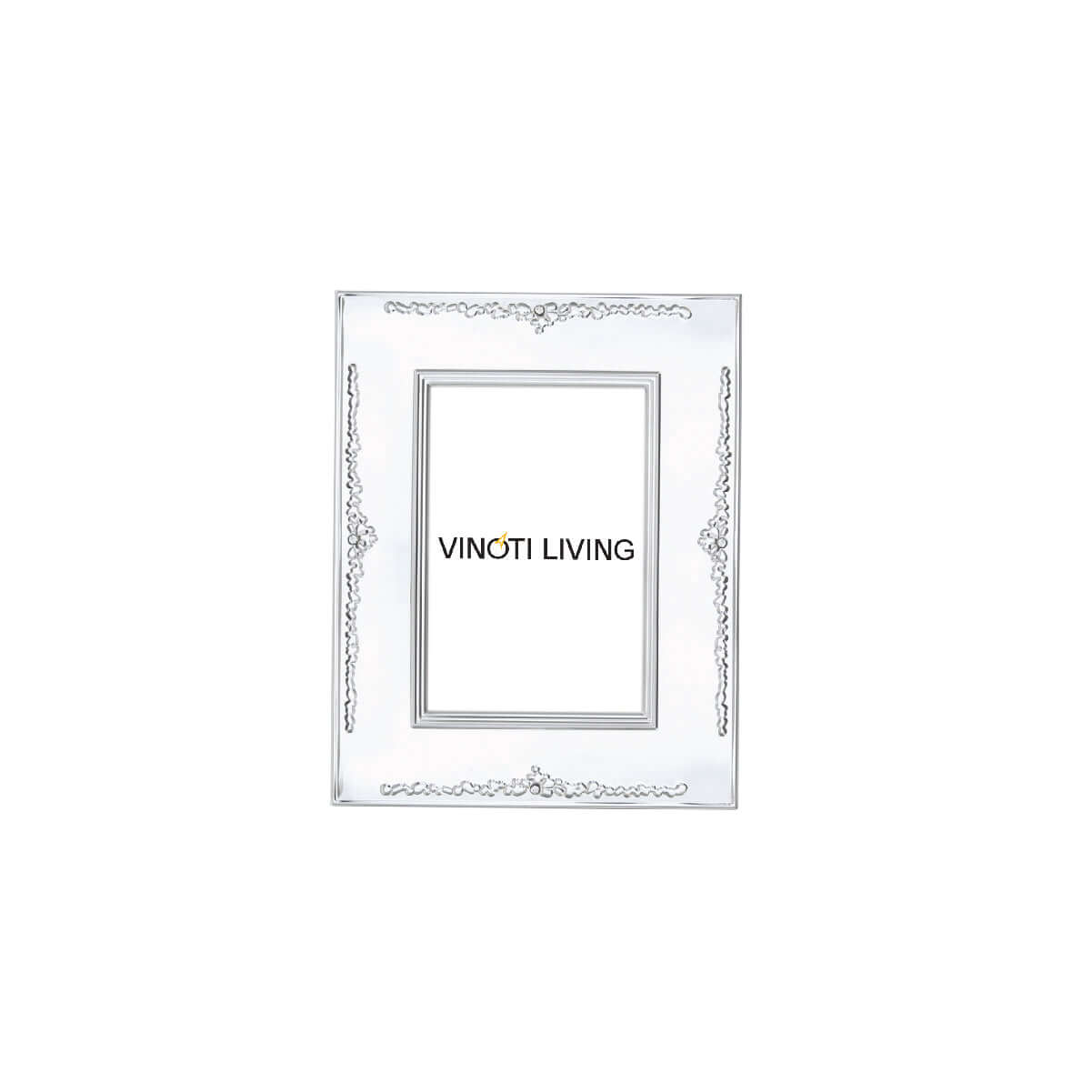 Costa Crown Photo Frame - Silver - Vinoti Living