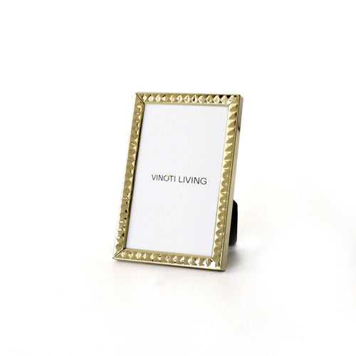 photo frame - Aliya Dots Photo Frame - Gold - vinoti living - decor dan accessories di indonesia