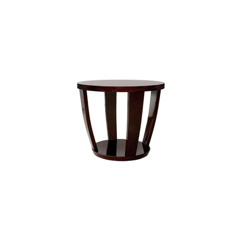 furniture bali surabaya palembang round side table dekoruma meja glossy