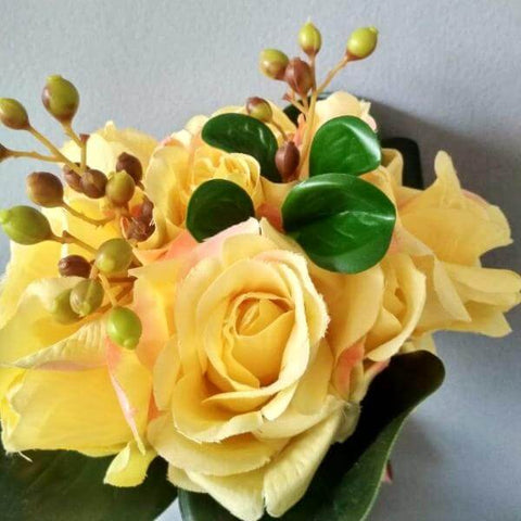 Rose Bouquet - Yellow (set of 4 bunch)