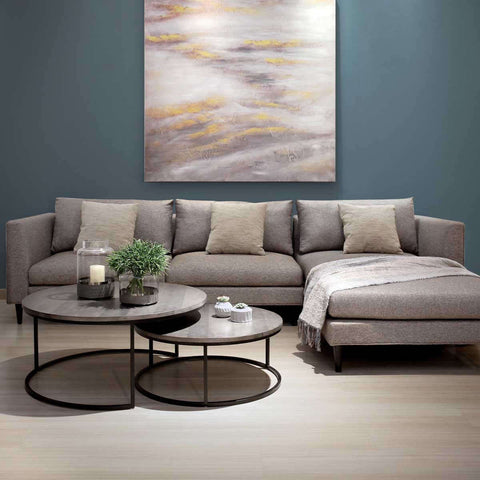 Slimline L-shape 3-seat sofa, simple and chic sofa