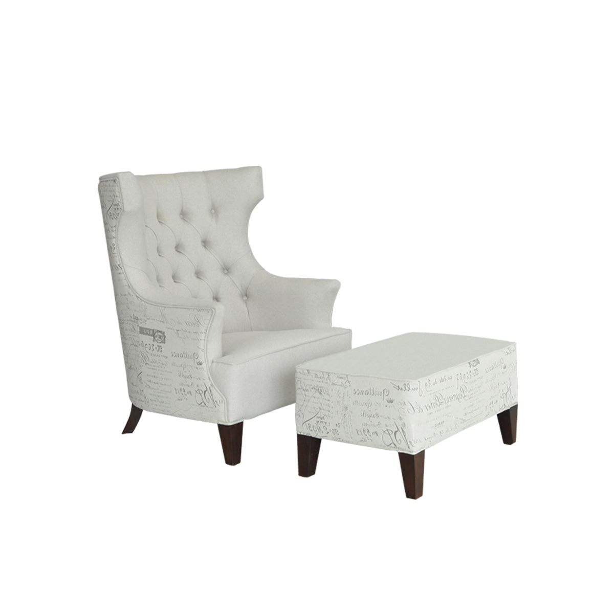 Verona Wing Chair + Ottoman  sc 1 st  Vinoti Living & Verona Wing Chair + Ottoman u2013 Vinoti Living