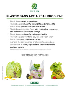 Compostable Trash Bin Liners<br>13 Gallon