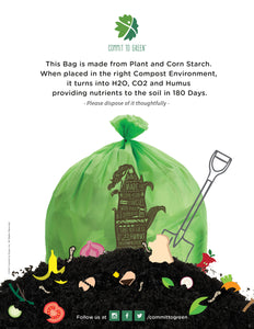 Compostable Food Scrap Bags<br>3 Gallon