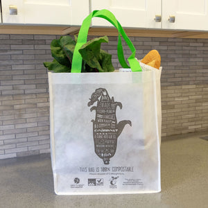 Compostable <br>Non-Woven Reusable Bag <br> Set of 3 Bags - Commit to Green™