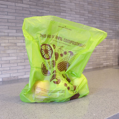 Compostable <br>Produce Bag on a Roll (Flat) - Commit to Green™