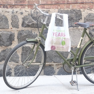 Compostable T-sac/Shopping Bag<br> 1000 Years - Commit to Green™