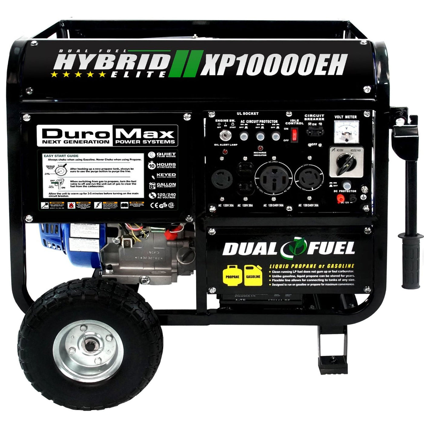 Powerful DuroMax XP10000EH | DualFuel Generator for Homeowners