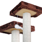 Cat Scratching Poles Post Furniture Tree House Brown