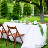 Set of 2 Table Cloths - White 137 x 244