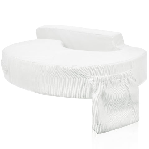 Baby Breast Feeding Support Memory Foam Pillow w/ Zip Cover White