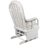 Baby Breast Feeding Sliding Glider Chair w/ Ottoman White