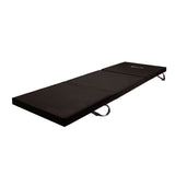 Trifold Exercise Mat Floor Black
