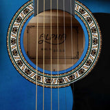 38 Inch Wooden Acoustic Guitar Blue