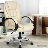 Executive PU Leather Office Computer Chair Beige