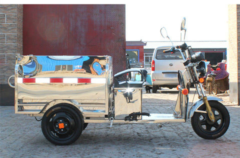 TJ-QL- stainless steel electric tricycle sanitation trucks cleaning car garbage collection vehicle