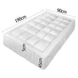 Pillowtop Mattress Topper Memory Resistant Protector Pad Cover Single