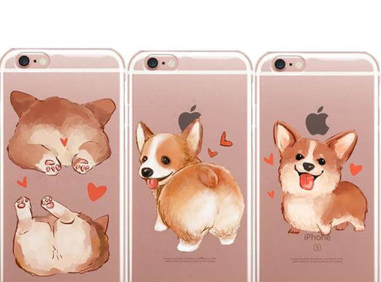 Cute Corgi iPhone cases for iPhone 5 to iPhone X