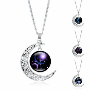 Glass Galaxy themed Zodiac Necklace | PawRawr