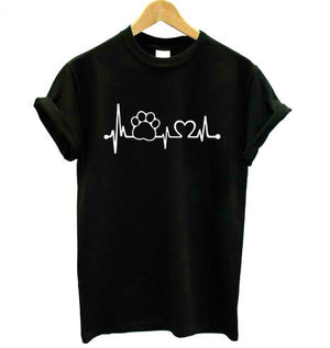 Unisex Paw Heartbeat Graphic Tee (FREE SHIPPING)
