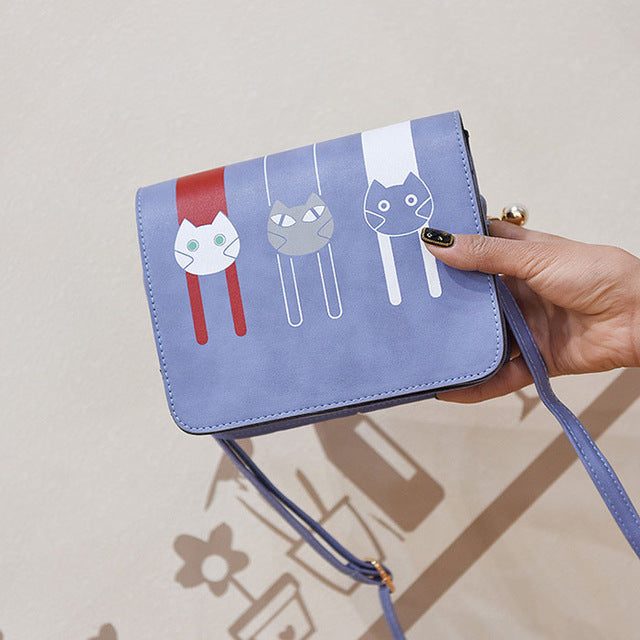 Cartoon Cat Print Handbag Fashion 2018 | PAWRAWRCOLLECTION