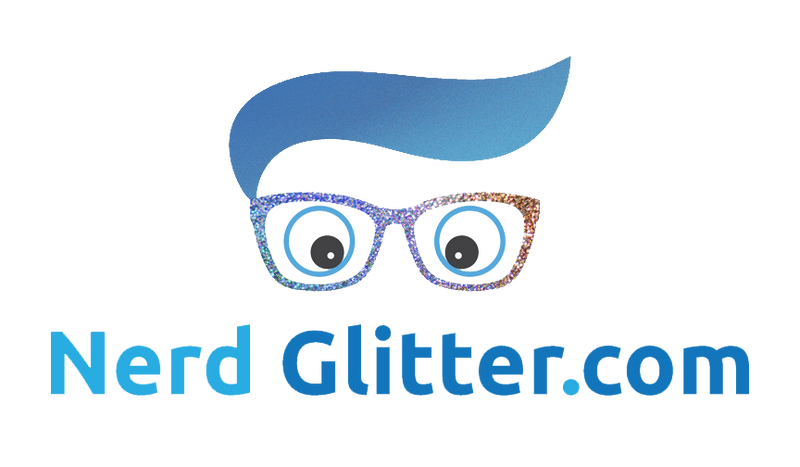 Glittered with everything nerd! Life is just better with glitter, especially if you are a nerd.
