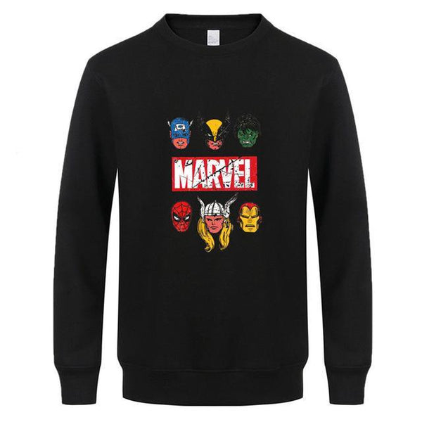Marvel Logo Super Hero Sweatshirt (Many Variants Available)