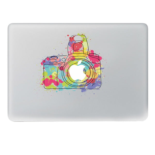 Removable Watercolor Camera Vinyl Decal for Macbook Pro Air 11 13 15