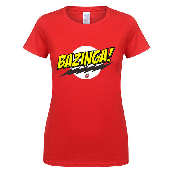 Big Bang Theory Bazinga! Cotton Women's T-Shirt (Many Variants Available)