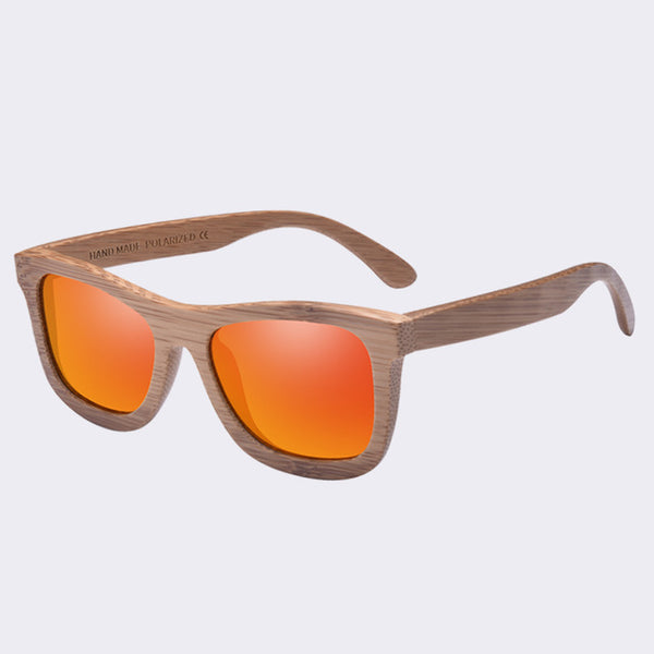 AOFLY New Polarized Handmade Bamboo Sunglasses for Men