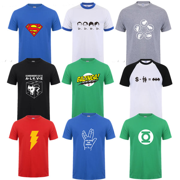 Big Bang Theory Sheldon Cooper T-Shirt Collection #1 (Many Variants Available)