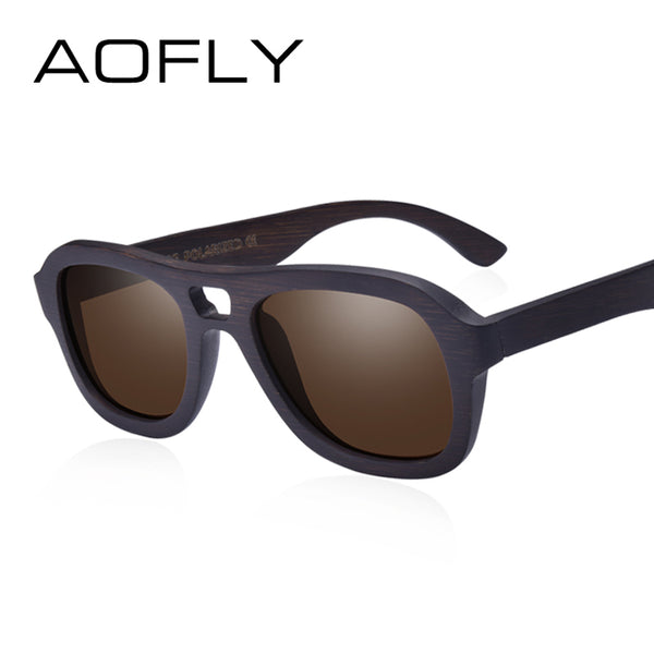 AOFLY Polarized Wooden Sunglasses Men/Women Handmade With a Bamboo Frame