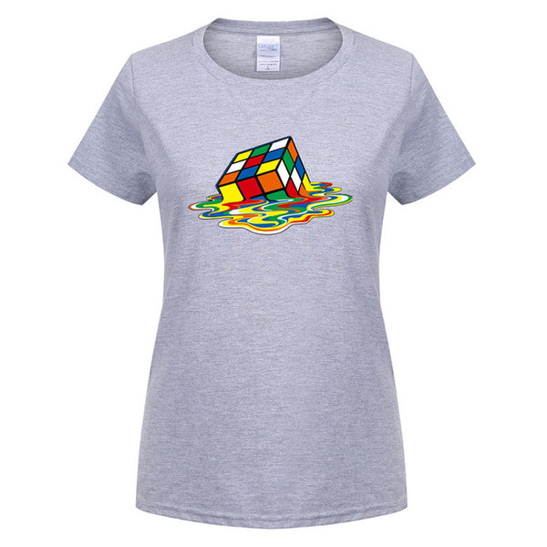 Big Bang Theory Rubix Cube Cotton Women's T-Shirt (Many Variants Available)